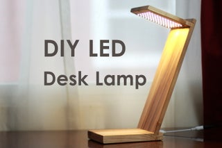 Diy Led Desk Lamp W Strip Lights 8 Steps With Pictures Instructables