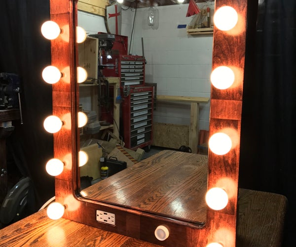 """""""Hollywood"""" Style Lighted Vanity. 1st Instructable!"""