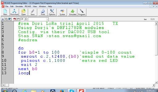 PICAXE Transmitter Code