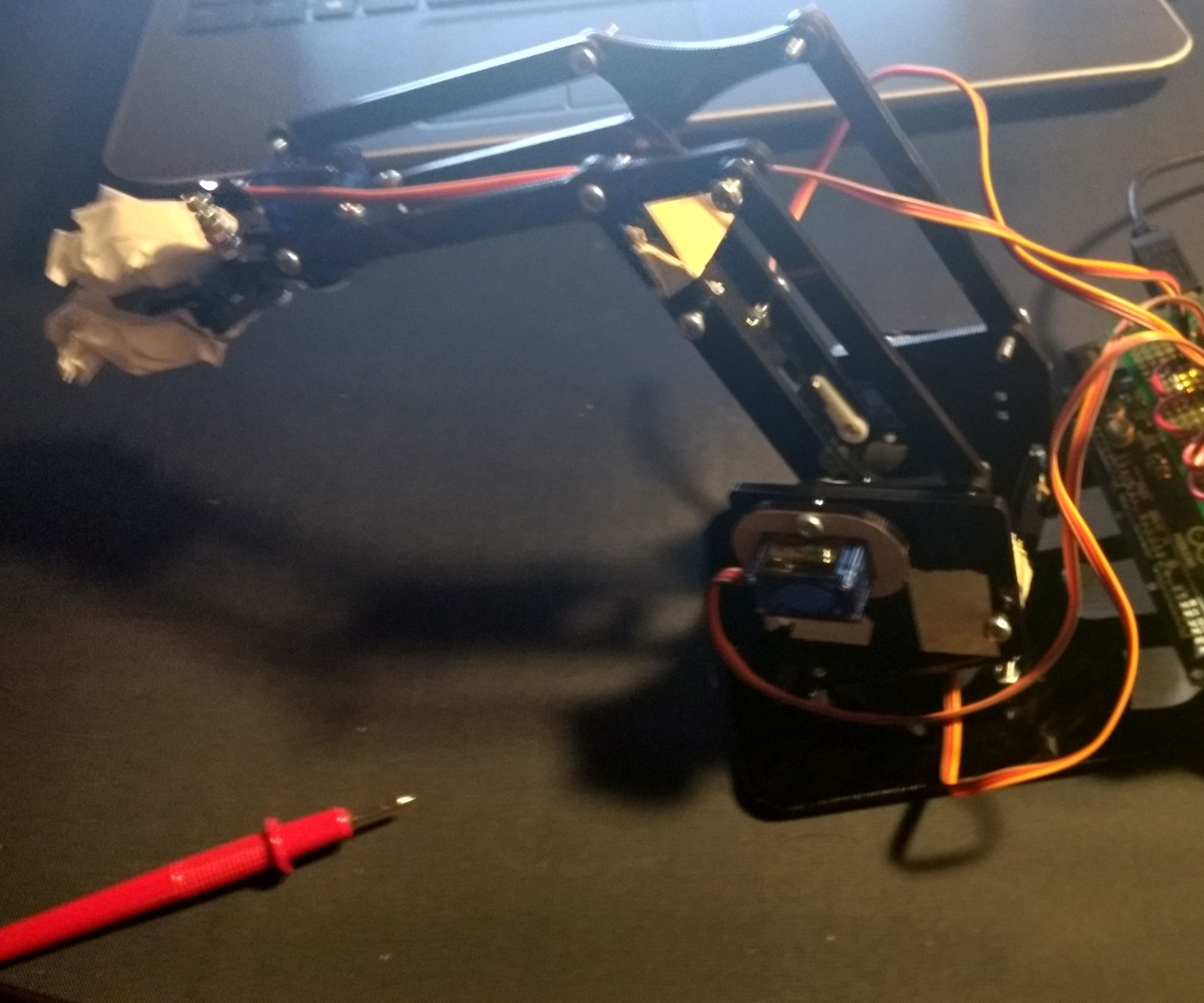 Quirky Crowd Controlled Robotic Arm With Arduino