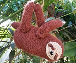 Mango the Knitted Magnetic Sloth