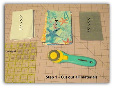 Step 1 - Gather and Cut Out Materials