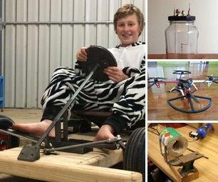 [newsletter] Electric Micro Kart, Homemade Lightbulb, Quadcopter HACK