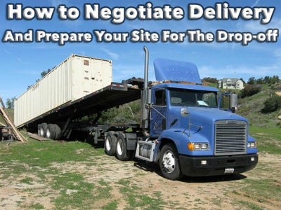 How to Negotiate Delivery Fees and Prepare Your Site for the Drop-Off