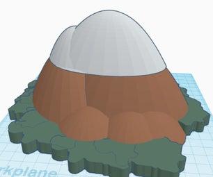 Andes Mountain Range Volcano (Chimborazo)- Scene