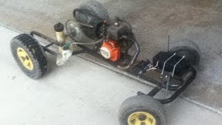 Homemade Gasoline RC Car from Weedeater
