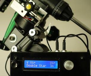 Spotnik  - 基于Arduino的EQ安装望远镜的踏步/按钮/数字设置圈子