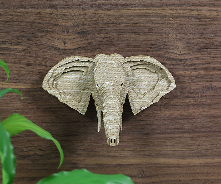 3D Elephant Wall Decoration
