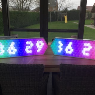 Ping Pong Ball LED Clock