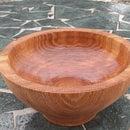 White Oak Slab Bowl