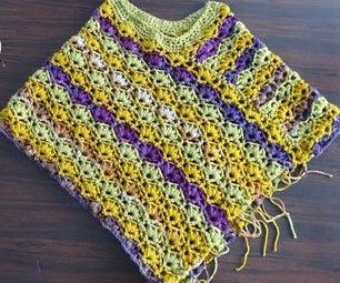Winsome Poncho – Free Crochet Pattern & Video Tutorials