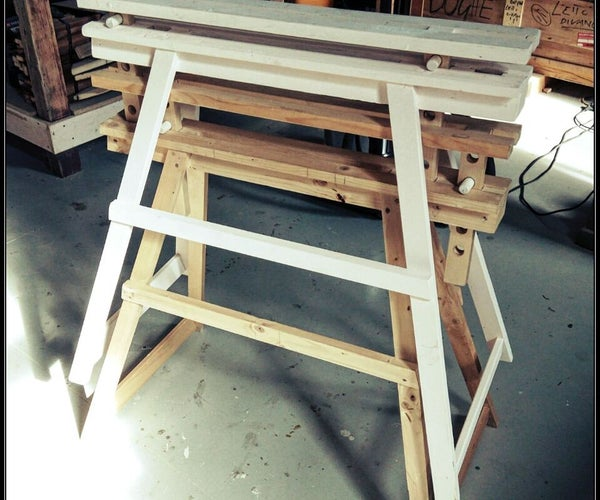 Adjustable Wood Sawhorse