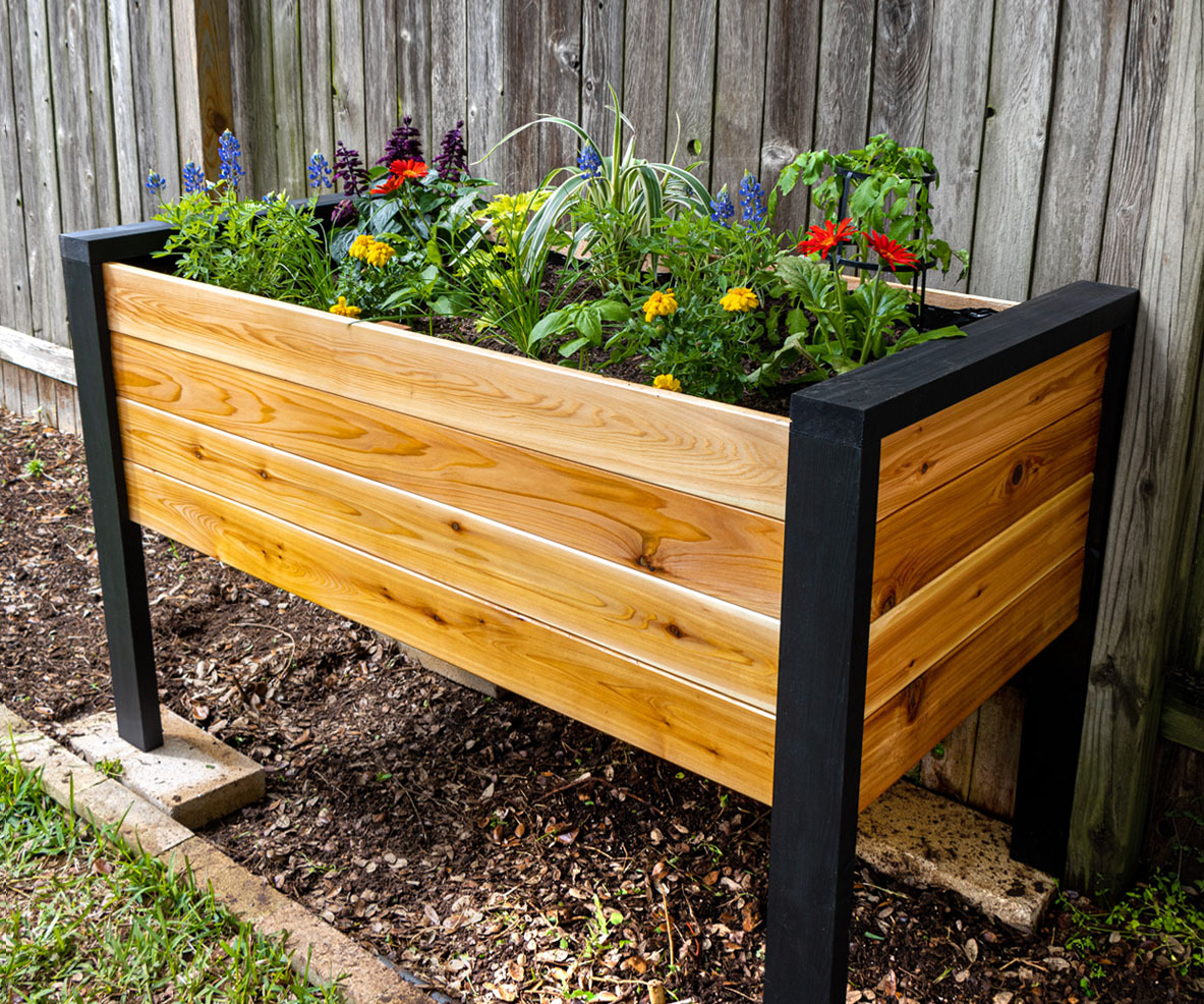 Picture of: How To Make A Diy Raised Planter Box 14 Steps With Pictures Instructables