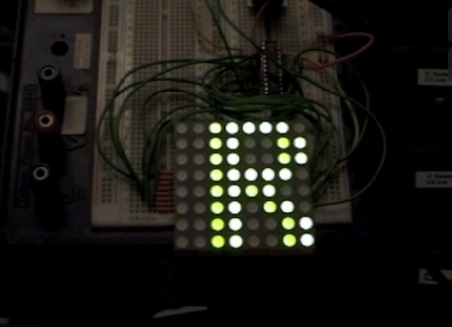 LED Matrix Test 1 using an AS1107 IC