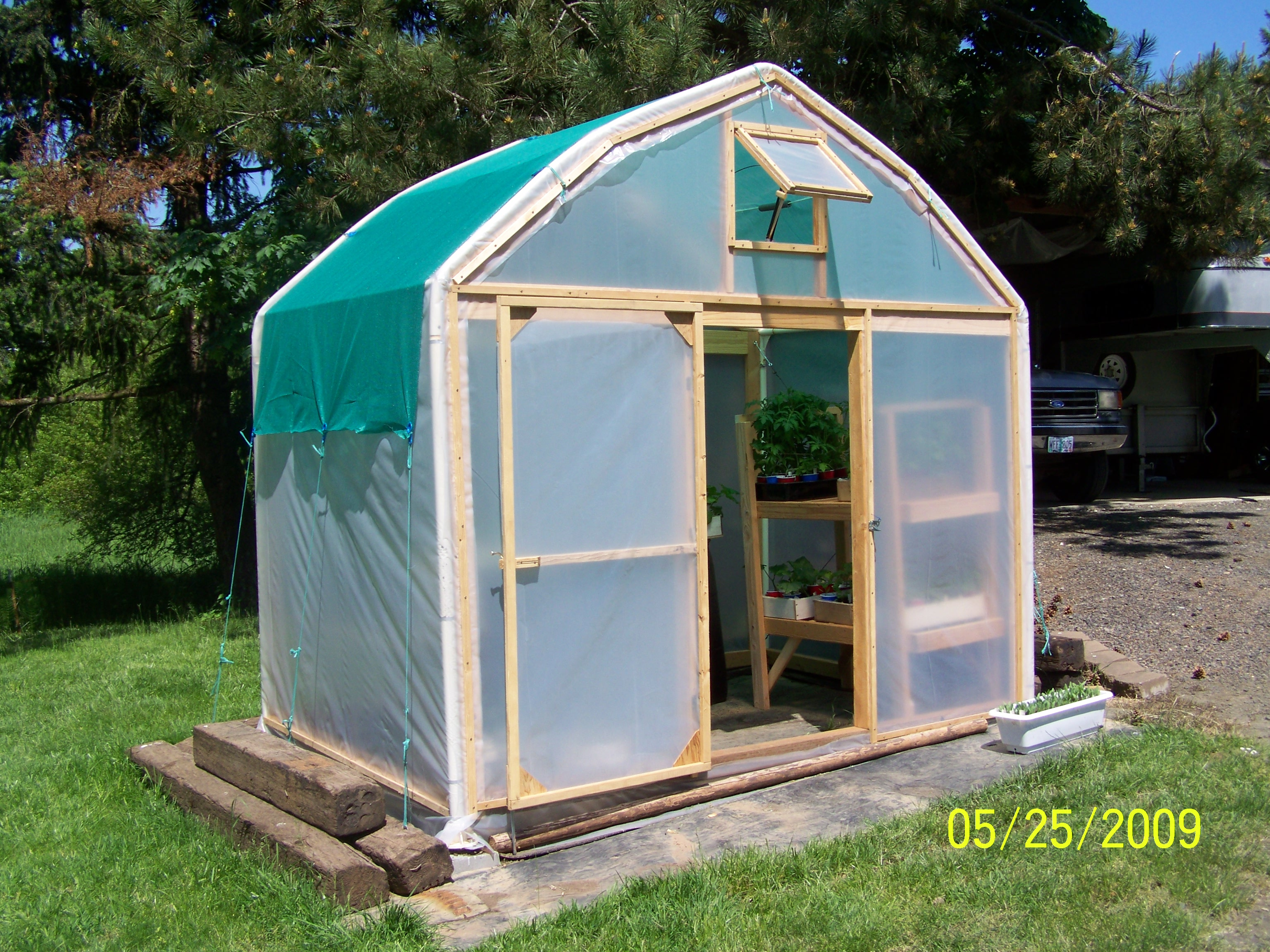 Make a greenhouse from an old carport