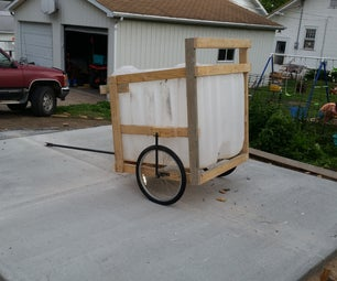 Grass Clipping Cart From Reclaimed Materials.