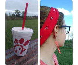 Up-cycled Straw Earrings