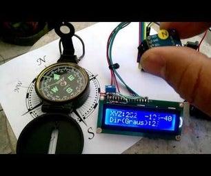 Digital Compass Arduino ( HMC5883 L )