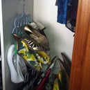 Need yet more shoe space? Use a belt hanger