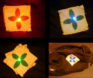 RGB LED Brooch