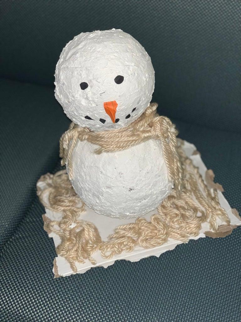 Mache Snowman