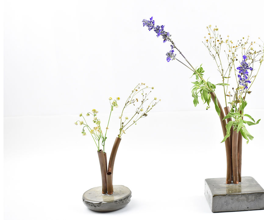 Make Amazing Vases With Cement and Copper Tubes