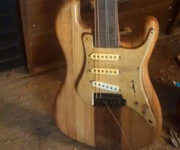 Turn an Old Chunk of Barn Into an Electric Guitar.