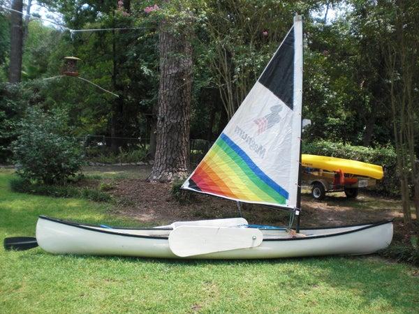 Sailing Rig for a Fiberglass Canoe