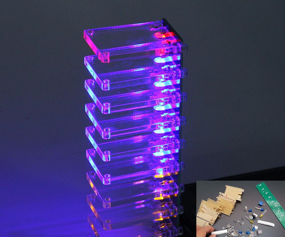 DIY Voice Control Electronic Crystal Column Music Spectrum Kits