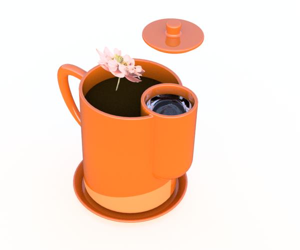 Garden Pot With Watering Tank