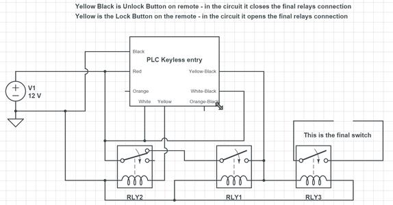 Latching / Locking Relay Circuit