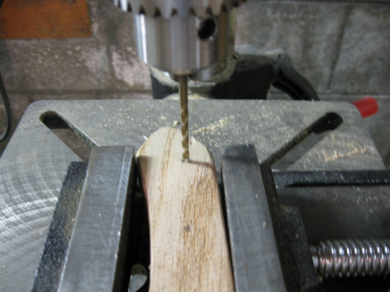 Making the Handle: Final Sanding and Installing Pins