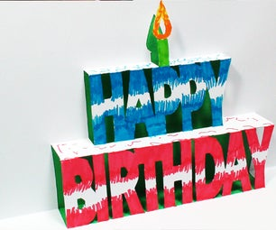 How to Make a BIRTHDAY Pop Up Card (Kirigami 3D) Happy Birthday Greetings!