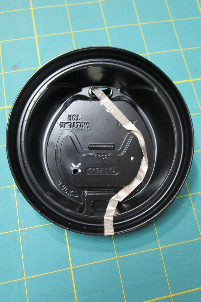 Place Long Tape on the Underside of the Lid