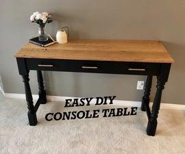 Easy DIY Console Table