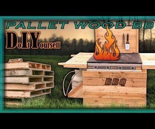 Barbecue Made From Pallet Wood