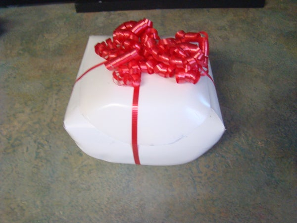 How to Use a Milk Jug to Wrap a Present