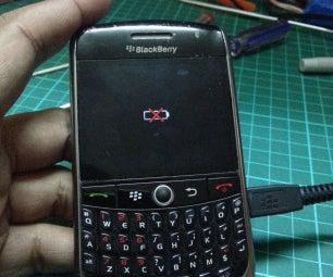 Blackberry 8900 Curve Crossed Battery Icon Fix