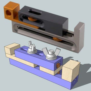 Kerf Dado Setting Jig Made From a T-track Left Over