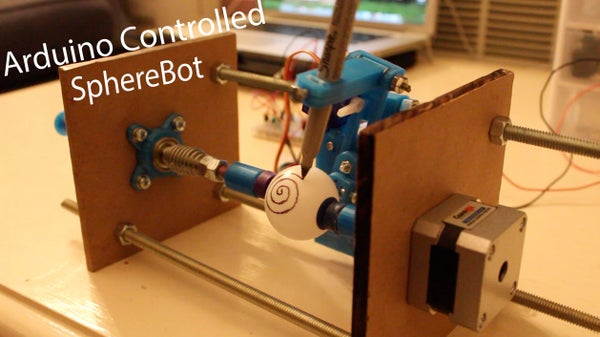 3D Printed Arduino Controlled Eggbot/Spherepot