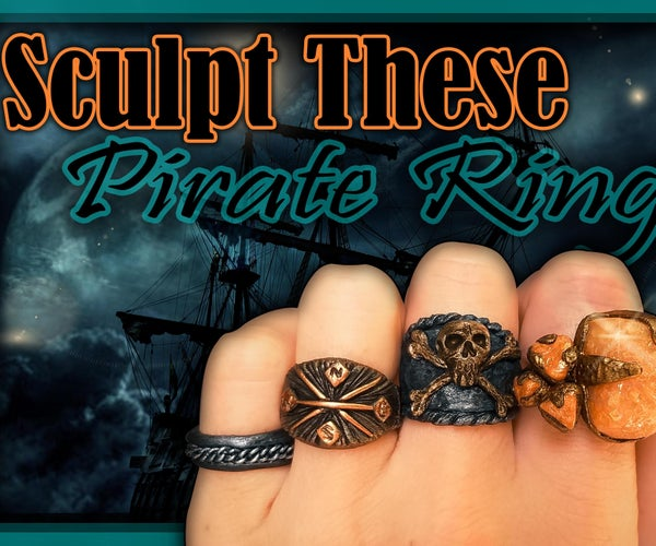 How to Make Pirate Rings Out of Polymer Clay