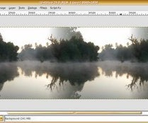 """Making Images seamless horizontally or vertically only (for """"The GIMP"""") ."""