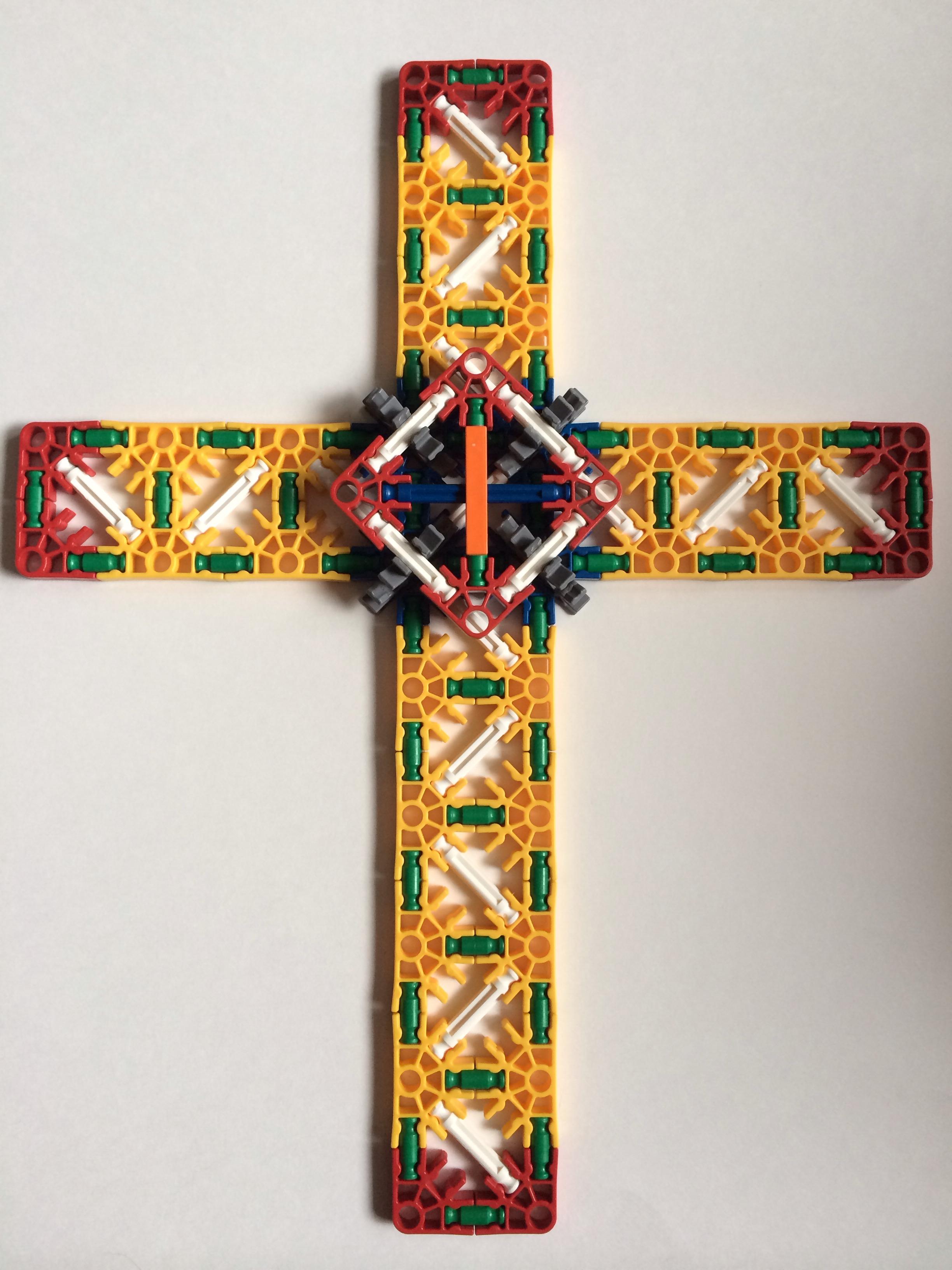 K'nex Easter Cross
