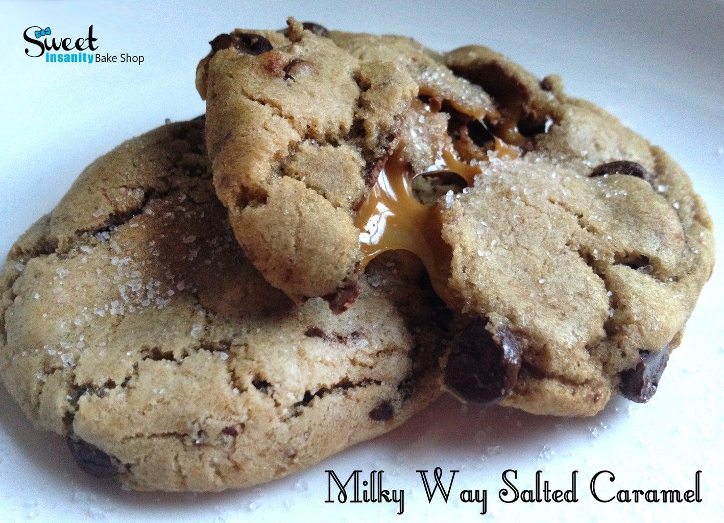 Milky Way Salted Caramel Cookies