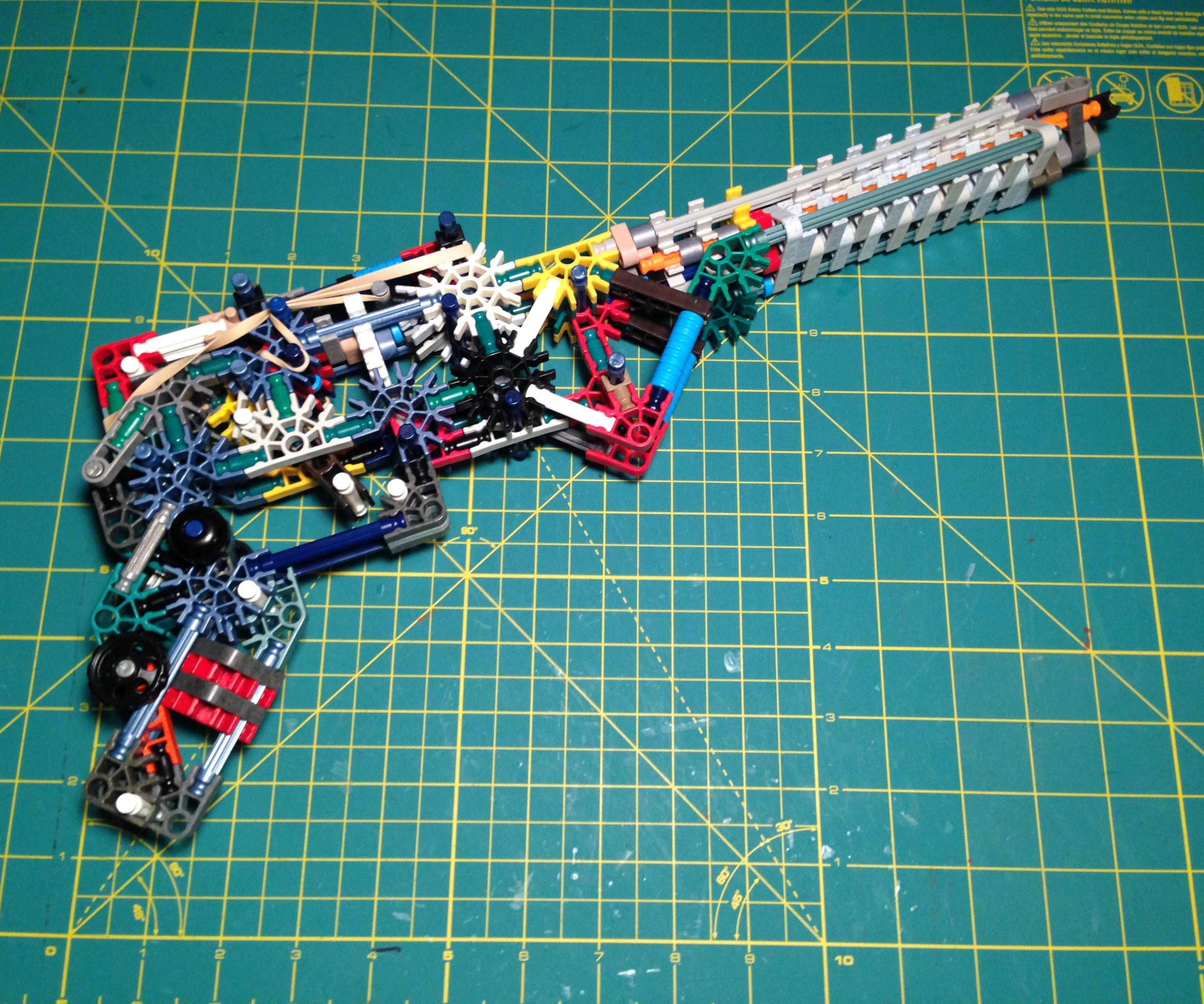 K'nex Whisper Pistol [Unique Mech, Semi-auto, 6 Shots]