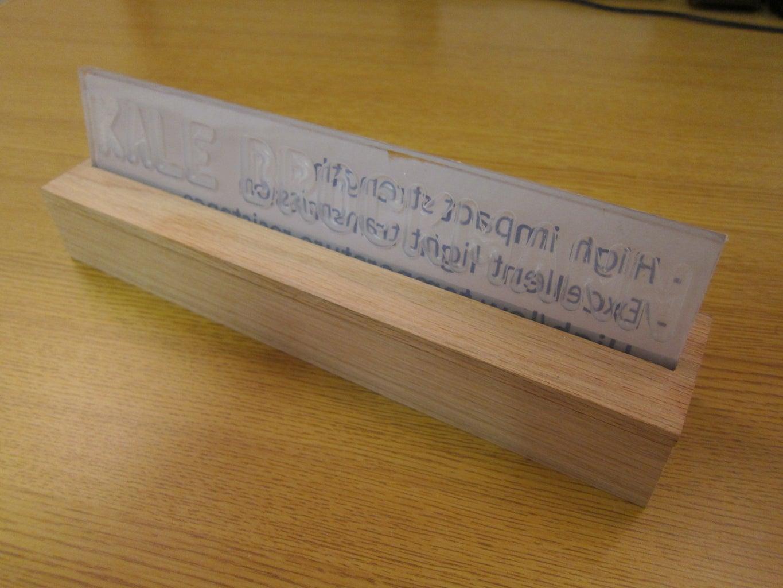Assemble Nameplate