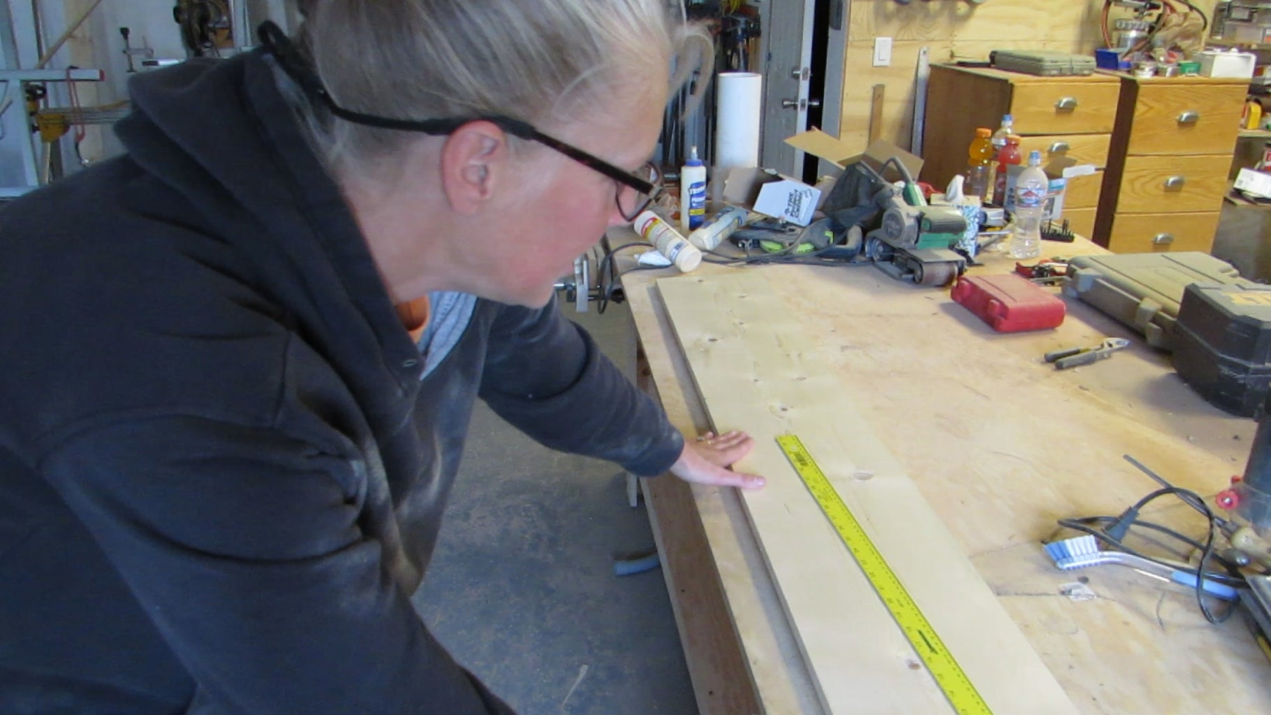 Select Your Board and Begin Marking the Measurement Lines