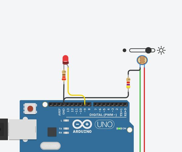 Light Sensor (Photoresistor) With Arduino in Tinkercad