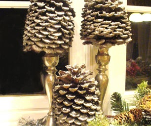 Simple Lucky Silver Holiday Pinecones
