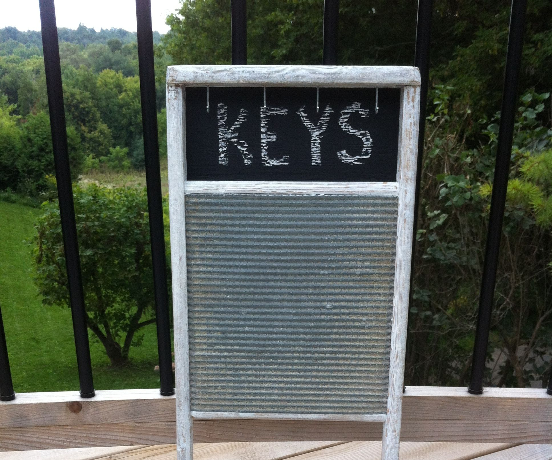 Turn An Antique Washboard Into A Nice Keyring Holder